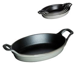 Stackable dish, 21cm, graphite grey