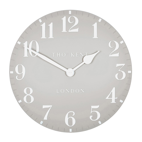 Arabic Large wall clock, 51cm, Dove Grey Resin