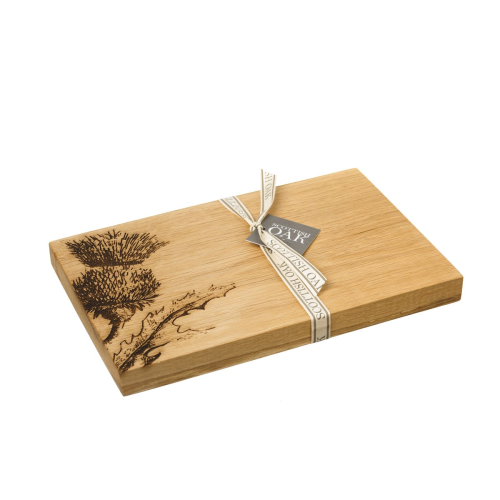 Thistle Serving board, 30 x 20 x 2.5cm, Engraved Illustration