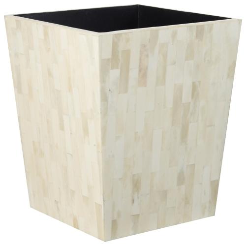 Bone Wastepaper bin, D25 x H30cm