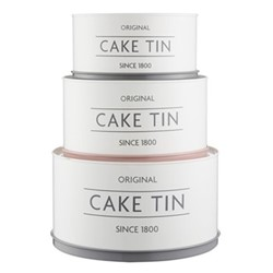 Innovative Kitchen Set of 3 cake tins, cream