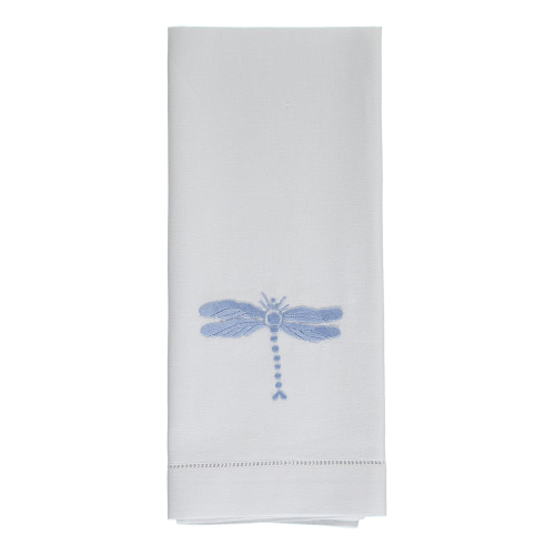 Dragonfly Hand towel, 38 x 58cm, Blue Cotton
