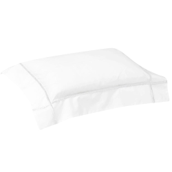 Athena - 500 Thread Count Cotton Percale Boudoir pillowcase, 30 x 40cm, blanc