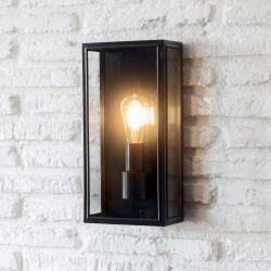 Belgrave Outdoor lantern, tall, matt black steel