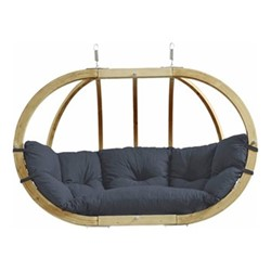 Globo Royal 2 seater hanging chair, 176 x 118 x 72cm, anthracite