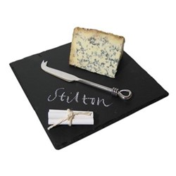 Cheese board, L30 x W20cm, grey slate