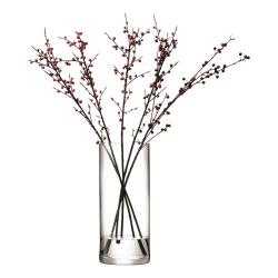 Column Vase, 42 x 18cm, clear