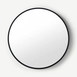 Bex Large round mirror, 76cm, Black