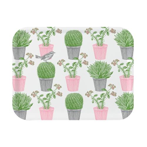 Cactus & Bird Large tray, 43 x 33cm