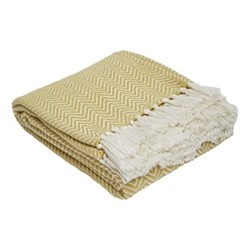 Herringbone Throw, L230 x W130cm, gooseberry