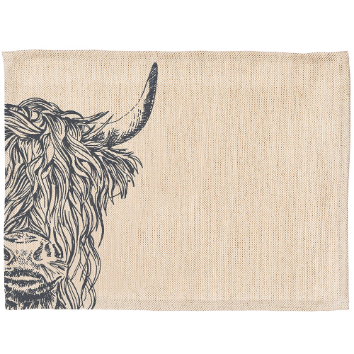 Highland Cow Set of 2 placemats, 40 x 30cm