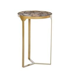 Ida Side table, H56 x D36.5cm, shingle