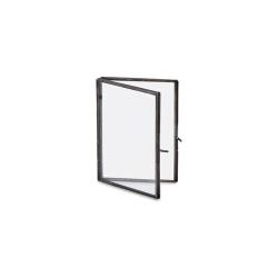"Danta Folded portrait frame, 5 x 7"", Antique Black"