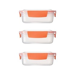 Nest 3 piece container set, 540ml, orange