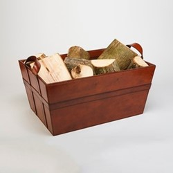Log basket, H57 x W40 x D28cm, conker brown