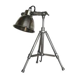 Writer's Desk lamp, H42 x W21 x L21cm, polished antique silver