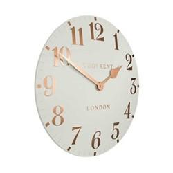 Arabic Small wall clock, 30cm, flint grey resin
