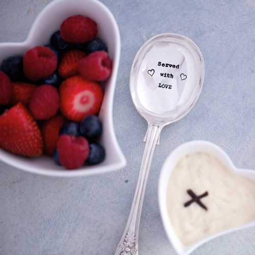 Served With Love Serving spoon, 21cm, Silver Plated