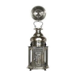 Venetian Table lamp, H34.5 x W18 x L18cm, antique silver