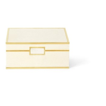 Classic Shagreen Small jewellery box, cream