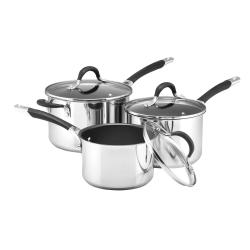 Momentum - Stainless Steel 3 piece non-stick pan set, 16, 18, 20cm