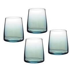 Atrium Set of 4 stemless wine glasess, 41cl, green