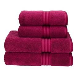 Supreme Hygro Pair of bath sheets, 90 x 165cm, raspberry