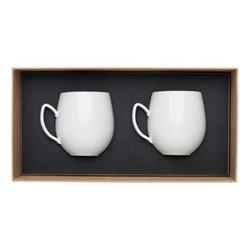 Salam Pair of mugs, H9.6cm - 36cl, white porcelain