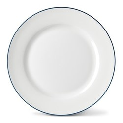 Rainbow Collection Side plate, 20cm, marine blue rim
