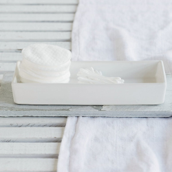 Newcombe Tray, L24 x W10cm, White Ceramic