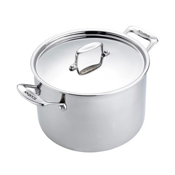 Fusion 5 Stock pot with lid, 7.6 litre - D24, stainless steel