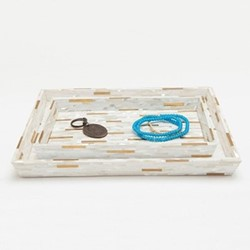 Cortona Pair of trays, white