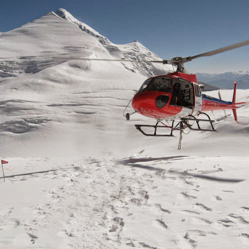 Private helicopter experience to Mount Everest Base Camp for two