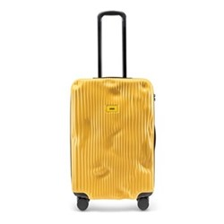 Stripe Medium suitcase, H68 x W45 x D26cm, yellow