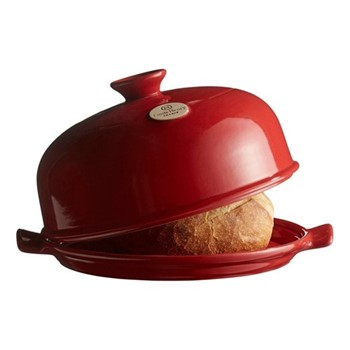 Bread cloche, 34 x 29 x 17cm, burgundy