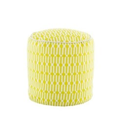Fresh American - Links Recycled polyester P.E.T. indoor/outdoor pouf, D51 x H51cm, chartreuse