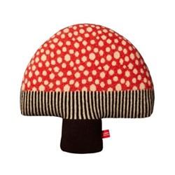 Mushroom Cushion, L37cm, red