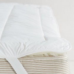 Luxury Reversable Mattress topper double, White