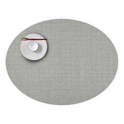 Mini Basketweave Set of 4 oval placemats, 36 x 49cm, aloe