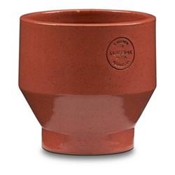 Edge Indoor pot, Dia15 x H15cm, teracotta/burned red