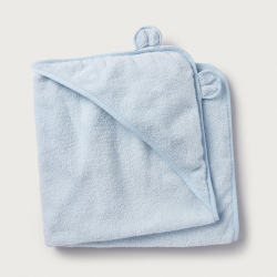 Boys bear hooded towel, large, blue