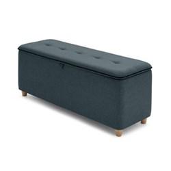 Burcot Bench, L124 x W43 x H48cm, blue