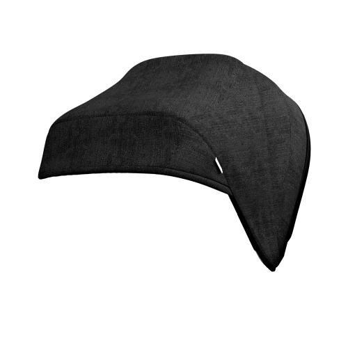 J-carbon Hood & harness pads, Graphite black, Black