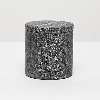 Manchester Canister, H11.5cm, cool gray faux shagreen