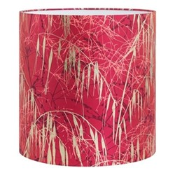 Three Grasses Pendant lampshade, 36 x 36cm, hot pink/soft gold