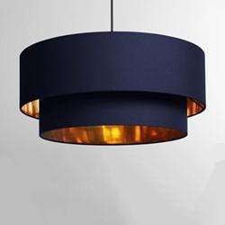 Oro Pendant shade, H25 x W50 x D50cm, navy/copper