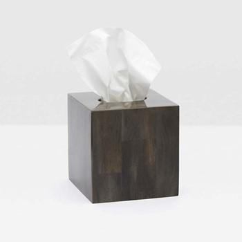 Arles Tissue box, H15cm, dark faux horn