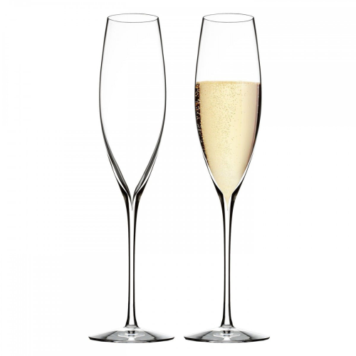 Elegance Collection Pair of champagne flutes, classic, Clear
