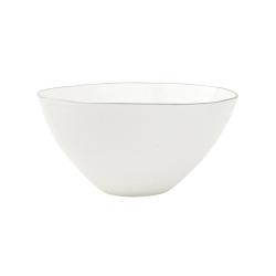 Abbesses Set of 4 medium bowls, 15.2 x 7.6cm, Grey Rim