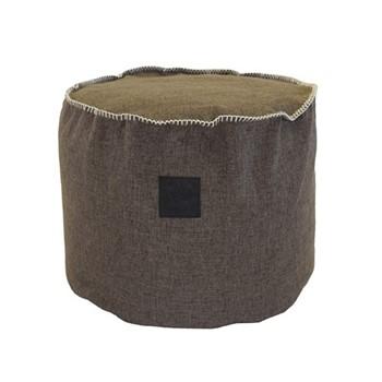 Fabric Footstool, Dia40 x 50cm, sand